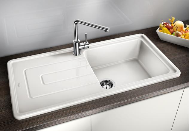 square melon blanco tolon xl 6 s ceramic kitchen sink - Blanco Kitchen Sinks