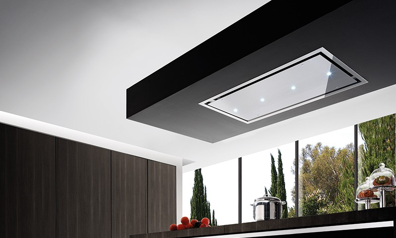 SquareMelon- Air Uno Otello Ceiling Hood Stainless Steel Kitchen Extractor