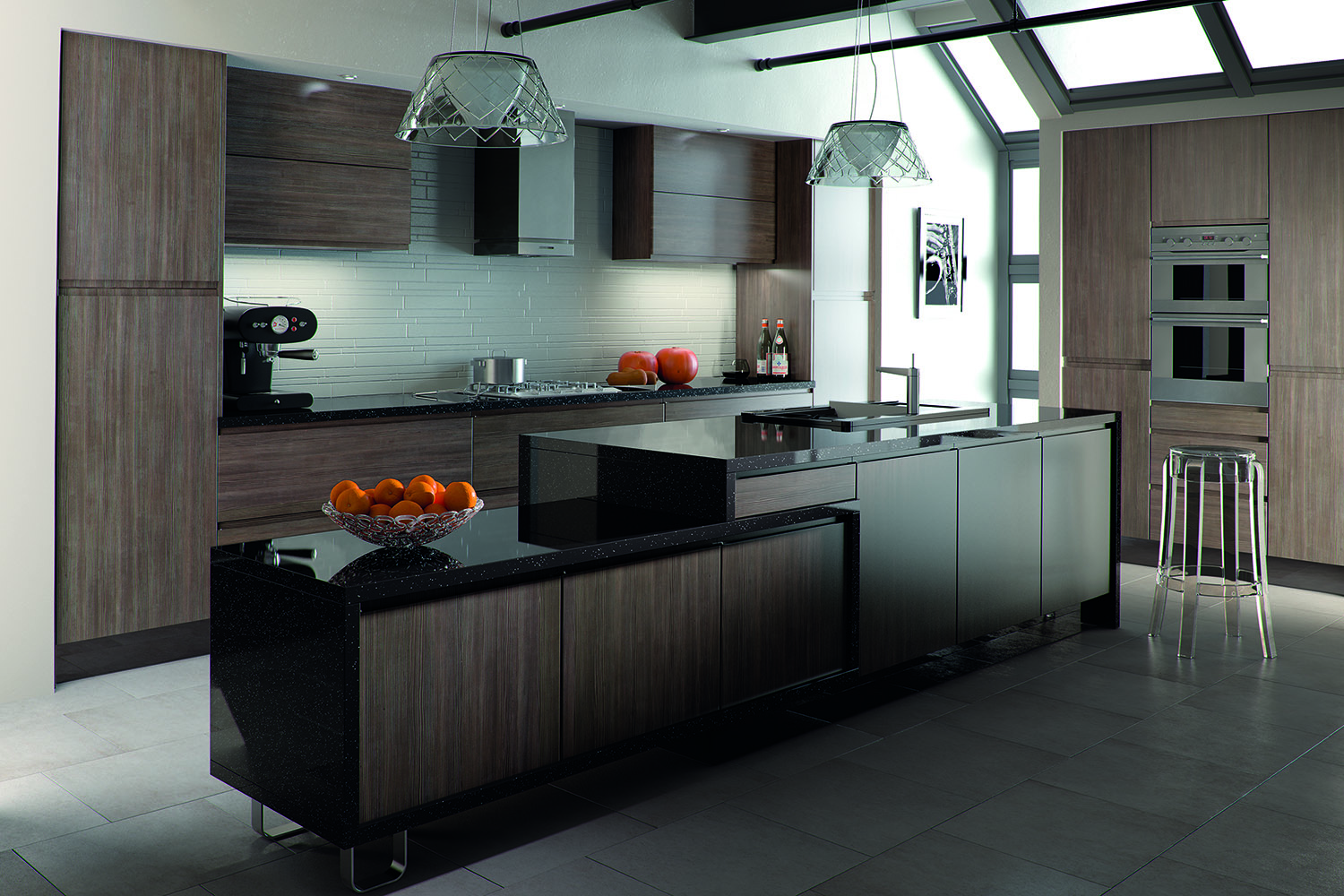 SquareMelon- Avola Flint Grey Knebworth  Contemporary Kitchen