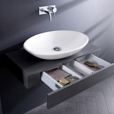 Perfect Where Sculptural Bathroom Furniture Takes Precedence Neutral Colouration Of Dark Hues Shows Of The Forms To Maximum Effect Display Your Good Taste With The Artistic Bauhaus Slate Sink From Maxim