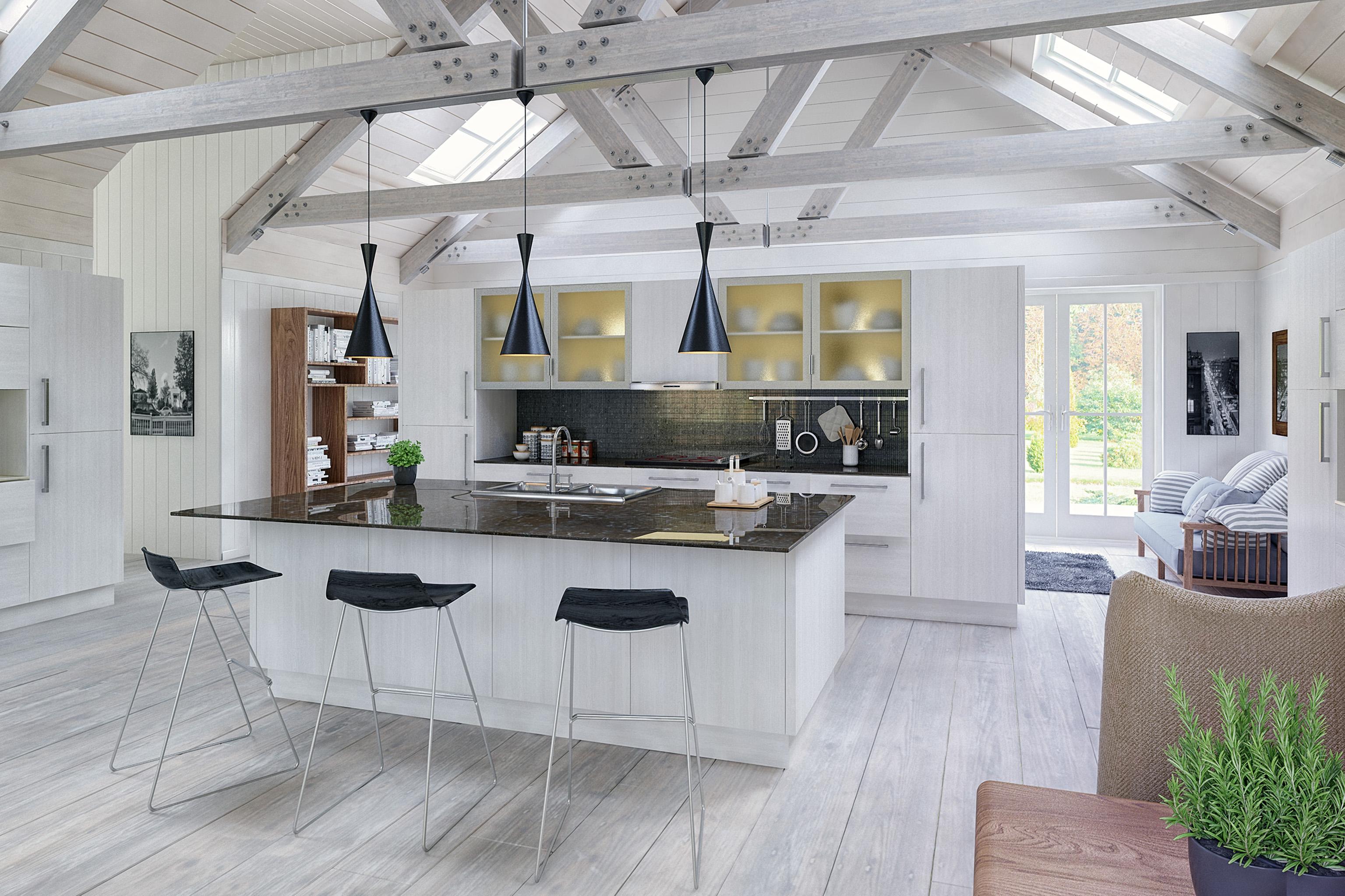 SquareMelon-Opengrain White Venice Modern Kitchen