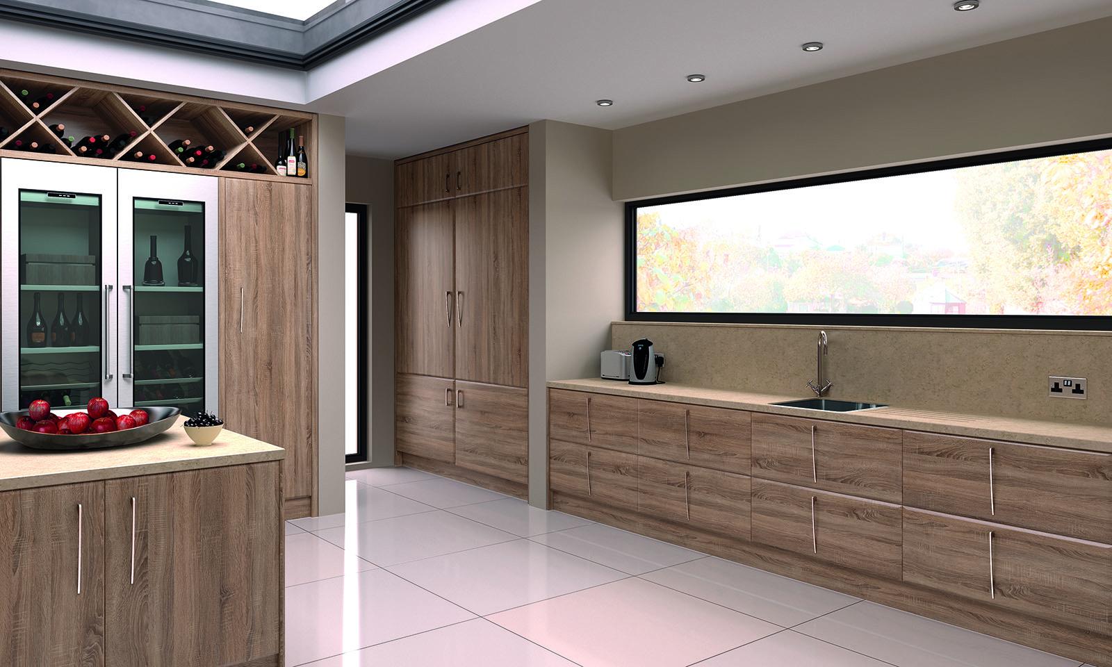 SquareMelon-Sonoma Natural Oak Pisa Modern Kitchen